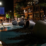 People vandalize property in Washington DC as the walk down the street. Protests in D.C. carry into the night, with more than 1,000 at Lafayette Park near the White House. Protesters are out nationwide after the killing of George Floyd by Minneapolis police. DC Metro police, secrete service police and Park police eventually pushed the protesters out of the park and into the streets of D.C.