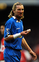 Photo: Javier Garcia/Back Page Images<br />Arsenal v Birmingham FA Barclays Premiership Highbury 04/12/04<br />Robbie Savage suffers a bloody nose as his team succumb to Arsenal