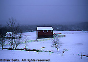 Snow-covered Farms, PA Landscapes, Perry Co., Pennsylvania