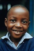 portret school kinderen van de Ferry nursery school in kenya, Mombasa