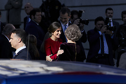 Queen Letizia Ortiz of Spain and Former Queen Sofia of Spain attends to 40 Anniversary of Spanish Constitution at Congreso de los Diputados in Madrid, Spain. December 06, 2018. Photo by ALTERPHOTOS/A. Perez Meca/ABACAPRESS.COM