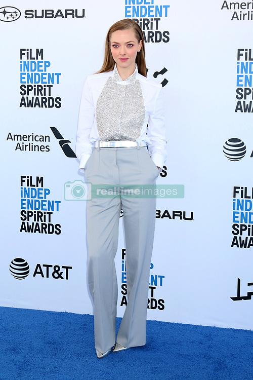 February 23, 2019 - Santa Monica, CA, USA - LOS ANGELES - FEB 23:  Amanda Seyfried at the 2019 Film Independent Spirit Awards on the Beach on February 23, 2019 in Santa Monica, CA (Credit Image: © Kay Blake/ZUMA Wire)