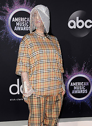 Billie Eilish at the 2019 American Music Awards held at the Microsoft Theater in Los Angeles, USA on November 24, 2019.
