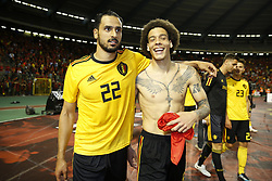 June 11, 2018 - Bruxelles, BEL - BRUSSELS, BELGIUM - JUNE 11 :   Nacer Chadli midfielder of Belgium and Axel Witsel midfielder of Belgium  during a FIFA international friendly match between Belgium and Costa Rica as preparation for the 2018 FIFA World Cup Russia at the King Baudouin Stadium on June 11, 2018 in Brussels, Belgium , 11/06/2018 (Credit Image: © Panoramic via ZUMA Press)
