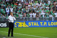 Claude PUEL - 10.05.2015 - Saint Etienne / Nice - 36eme journee de Ligue 1<br /> Photo : Jean Paul Thomas / Icon Sport