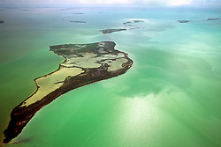 Eagle Key, Pass Key, Tern Keys, .and  Park Key (from front to back).Everglades National Park, .Florida Bay, Florida (Gulf of Mexico)
