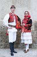 Croatian folk costume from Zagrebačko Prigorje. LADO (Croatian National Folk Dance Ensemble), Zagreb, Croatia © Rudolf Abraham