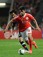 20120331: LISBON, PORTUGAL - Portuguese Liga Zon Sagres 2011/2012 - SL Benfica vs CS Braga.<br /> In picture: Benfica's Nelson Oliveira, front, run with the ball.<br /> PHOTO: Alvaro Isidoro/CITYFILES