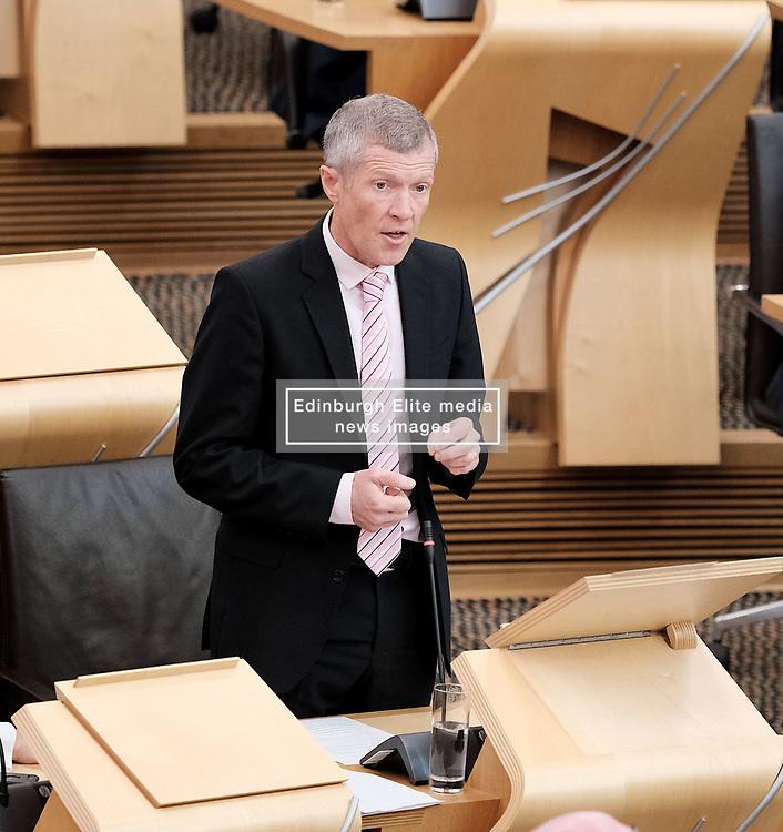 First Minister's Questions in the Scottish Parliament<br /> <br /> Thursday, 19th September 2019<br /> <br /> Pictured: Scottish Liberal Democrat leader Willie Rennie<br /> <br /> Alex Todd   Edinburgh Elite media