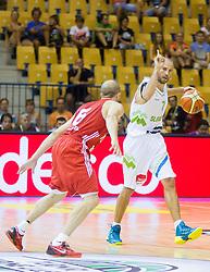 Nebojsa Joksimovic of Slovenia during friendly match between National teams of Slovenia and Turkey for Eurobasket 2013 on August 4, 2013 in Arena Zlatorog, Celje, Slovenia. (Photo by Vid Ponikvar / Sportida.com)