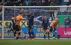 Alloa Athletic's Jordan Kirkaptrick cele scoring their second goal. Falkirk 1 v 2 Alloa Athletic, Scottish Championship game played 6/4/2019 at The Falkirk Stadium.
