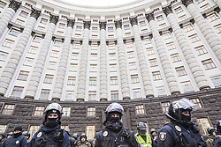 March 23, 2019 - Kiev, Kiev, Ukraine - Riot police during a demonstration against ukrainian government corruption in Kiev, Ukraine. (Credit Image: © Celestino Arce Lavin/ZUMA Wire)