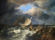 Calais Pier:  an English packet boat arriving', 1803:  Joseph Mallord Willliam Turner (1775-1851) English artist. Oil on canvas.