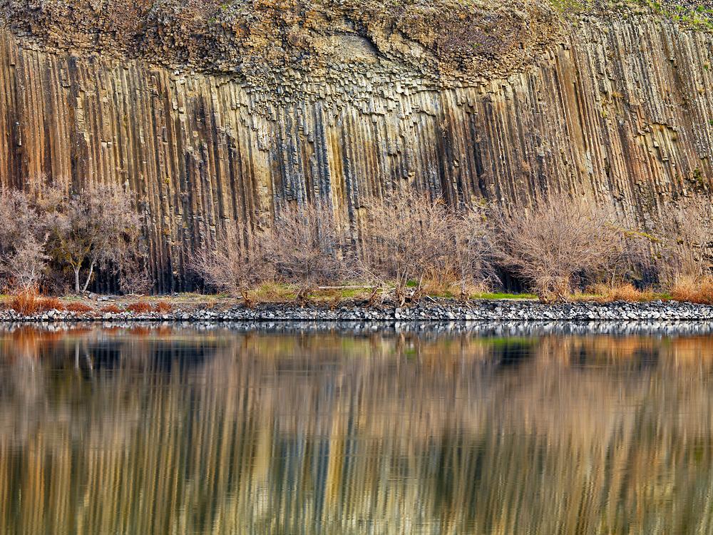 Limited Edition Print<br /> Columnar Basalt along the Snake River on the Idaho Side near Asotin, Washington