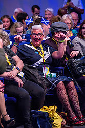 Pictured: <br /> The members of the SNP gathered in the Scottish Events Centre in Glasgow for their annual conference.<br /> <br /> Ger Harley | EEm 8 October 2017