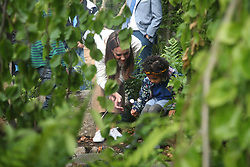 The Duchess of Cambridge during a visit to her garden at the RHS Chelsea Flower Show at the Royal Hospital Chelsea, London.