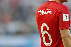 Harry Maguire of England during the 2018 FIFA World Cup Play-off for third place match between Belgium and England at the Saint Petersburg Stadium on June 26, 2018 in Saint Petersburg, Russia
