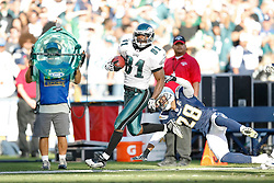 Philadelphia Eagles wide receiver Jason Avant #81 carries the ball during the NFL game between the Philadelphia Eagles and the San Diego Chargers on November 15th 2009. At Qualcomm Stadium in San Diego, California. (Photo By Brian Garfinkel)