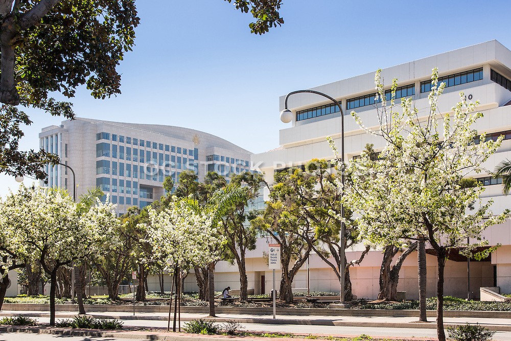 Ronald Reagan Building and OC Civic Center Santa Ana California