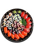 sushi, isolated on white background