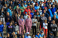 Spectators during the Friday Fourballs at the Ryder Cup, Le Golf National, Paris, France. 27/09/2018.<br /> Picture Phil Inglis / Golffile.ie<br /> <br /> All photo usage must carry mandatory copyright credit (© Golffile | Phil Inglis)