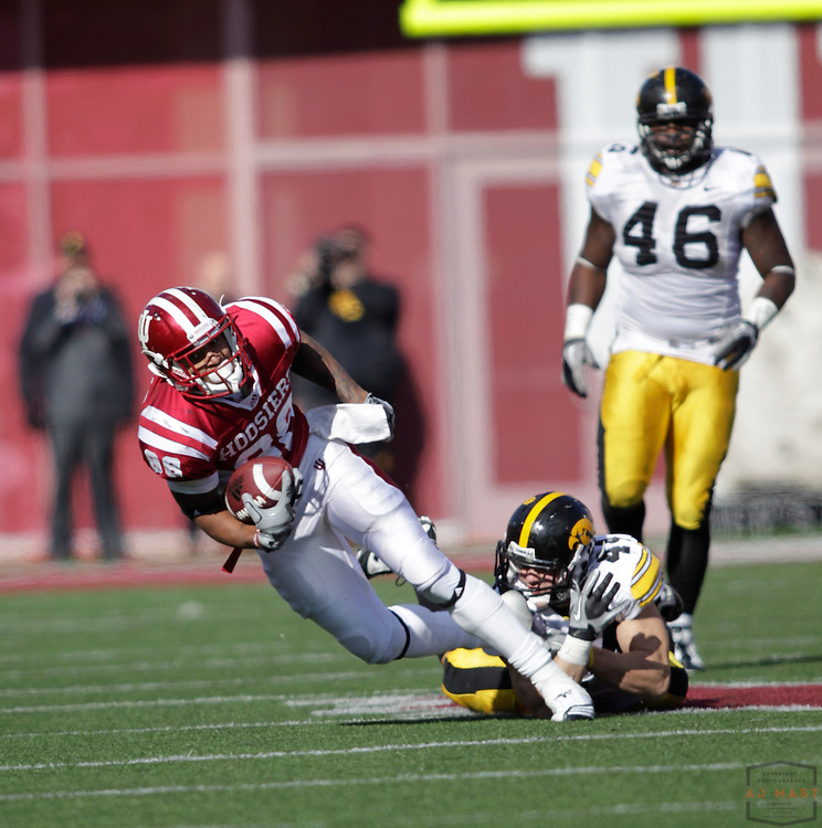 06 November 2010: Indiana Hoosiers wide receiver Damarlo Belcher (88) as the University of Iowa Hawkeyes played the Indiana Hoosiers in a college football game in Bloomington, Ind.