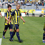 Fenerbahce's players (Left to Right) Selcuk SAHIN, Emre BELOZOGLU, Alexsandro de SOUZA, Daniel Gonzalez GUIZA during their Turkish superleague soccer match Kasimpasaspor between Fenerbahce at the Recep Tayyip Erdogan stadium in Istanbul Turkey on Sunday 25 April 2010. Photo by TURKPIX