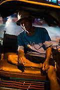 Portrait of becak cyclist, Yogyakarta city