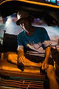 Portrait of becak cyclist, Yogyakarta city