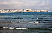 Waves of Mediterranean Sea, Melilla autonomous city state Spanish territory in north Africa, Spain