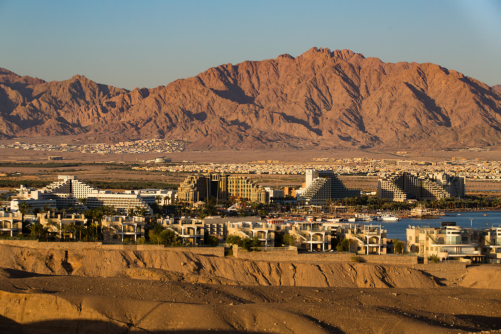A general view of the city Eilat, Israel's southernmost city, at the northern tip of the Red Sea, on the Gulf of Aqaba
