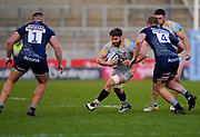 Wasps flanker Thomas Young runs at the Sale Sharks defence during the Gallagher Premiership Rugby match Sale Sharks -V- Wasps  at The AJ Bell Stadium, Greater Manchester, England United Kingdom, Sunday, December 27, 2020. (Steve Flynn/Image of Sport)