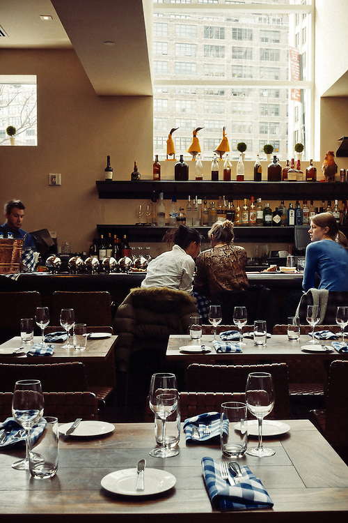Photos of food and interiors at David Burke Kitchen restaurant in New York City