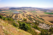 Agricultural fields as seen from Mount Tabor, Israel