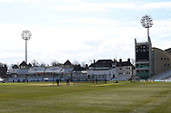 General view of Trent Bridge during the LV= Insurance County Championship match between Nottinghamshire County Cricket Club and Durham County Cricket Club at Trent Bridge, Nottingham, United Kingdom on 10 April 2021.