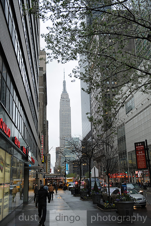 Empire State Building, looking east along West 34th Street. Manhattan, New York