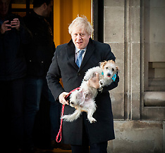 Boris Johnson votes with dog 12th December 2019