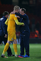 Football - 2016 / 2017 League Cup - Round 3: AFC Bournemouth vs. Preston North End<br /> <br /> Hat trick hero Simon Makienok of Preston gets a hug from Preston North End Manager Simon Grayson after his goals won the tie at Dean Court (The Vitality Stadium) Bournemouth<br /> <br /> Colorsport/Shaun Boggust