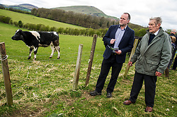Pictured: Andy Wightman and farm owner, Jim Telfer.<br /> <br /> The Scottish Green Party's Andy Wightman, MSP, joined local election candidate Ian Baxter at the proposed site of a new film studio in Edinburgh ahead of the local council elections.<br /> Ger Harley | EEm 17 April 2017