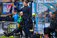 Plymouth Argyle manager Derek Adams during the EFL Sky Bet League 1 match between Wycombe Wanderers and Plymouth Argyle at Adams Park, High Wycombe, England on 26 January 2019.