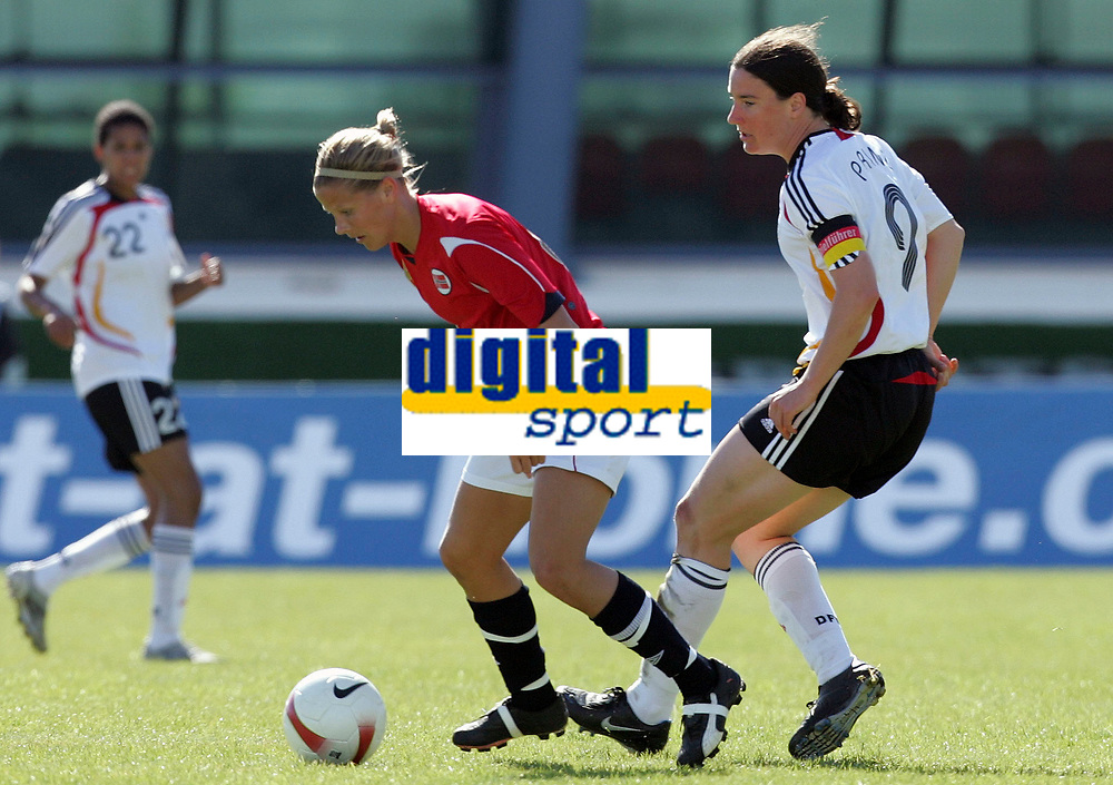 20080312: VILA REAL SANTO ANTONIO, PORTUGAL – Germany vs Norway during XV Algarve Women 's Football Cup, for 3rd / 4th places. In picture: Marita Lund (Norway) and Birgit Prinz (Germany). PHOTO: CITYFILES