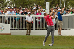 March 23, 2018 - Austin, TX, U.S. - AUSTIN, TX - MARCH 23:  Jordan Spieth tees off with a large crowd behind him during the WGC-Dell Technologies Match Play Tournament on March 22, 2018, at the Austin Country Club in Austin, TX.  (Photo by David Buono/Icon Sportswire) (Credit Image: © David Buono/Icon SMI via ZUMA Press)