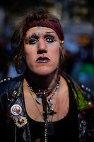 Natalie Cobrapuke, who claims to have lived on the streets since the age of 13 from Seattle Occupy Wall Street Protest in Zuccotti Park in New York...Photo by Robert Caplin.