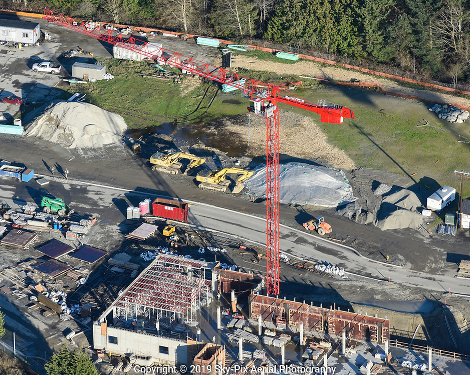 """Terrace Station project underway on the east side of I-5 in Mountlake Terrace. The transit-oriented, mixed-use residential and commercial development will include a new road """"Gateway Boulevard"""" to connect to the Mountlake Terrace Transit Center."""