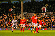 Lewis Dunk Brighton and Hove Albion during the Sky Bet Championship match at Craven Cottage, London<br /> Picture by Richard Brooks/Focus Images Ltd 07947656233<br /> 02/01/2017