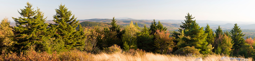 The view south from the summit of Silver Mountain in Lempster, New Hampshire.