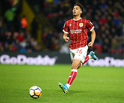 January 6, 2018 - Watford, England, United Kingdom - Bristol City's Zak Vyner..during FA Cup 3rd Round match between Watford  and Bristol  City at Vicarage Road Stadium, Watford ,  England 06 Jan 2018. (Credit Image: © Kieran Galvin/NurPhoto via ZUMA Press)