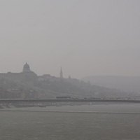 City view is seen during a rain shower in central Budapest, Hungary on May 03, 2013. ATTILA VOLGYI