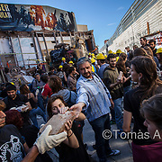 "The squatted social centre (CSO) ""Can Vies"" was partly demolished by the Barcelona City Council in 2014. After a week of riots and citizen protests, the neighbourhood's residents managed to stop the demolition of the building and reconstructed the affected part."