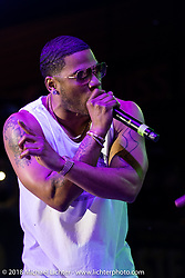 Nelly had Saturday's top billing at the Iron Horse Saloon and attracted a tremendous crowd during the 78th annual Sturgis Motorcycle Rally. Sturgis, SD. USA. Saturday August 4, 2018. Photography ©2018 Michael Lichter.